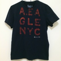 American Eagle T Shirt Mens Size Medium Navy NYC Limited Edition '09 Cit... - $296,21 MXN