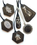 Shungite Necklace Jewelry Pendant Karelian Stone from Russia in Assortment - $10.90