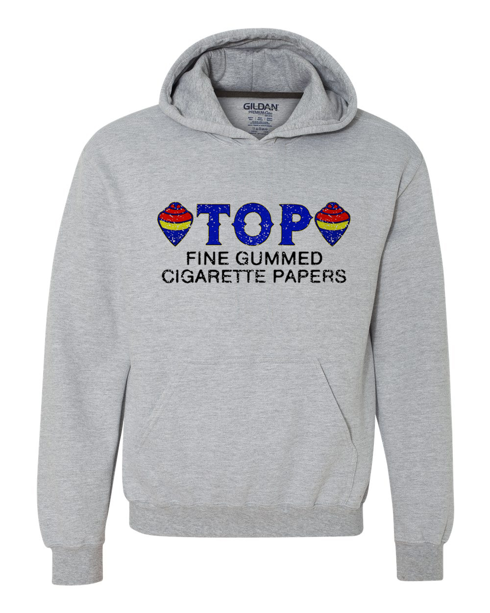 TOP Fine Cigarette Rolling paper graphic hoodie hooded zig zag pot vintage retro