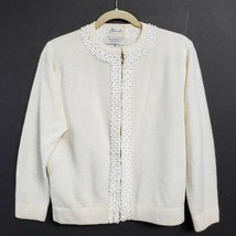 Vintage Barbara Lee Passport Collection Beaded Sweater Lambswool Blend S... - $60.00