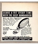 1950 Print Ad Deep Bombardier Fishing Lures Hawk Fish Lure St Louis,MO - $9.25