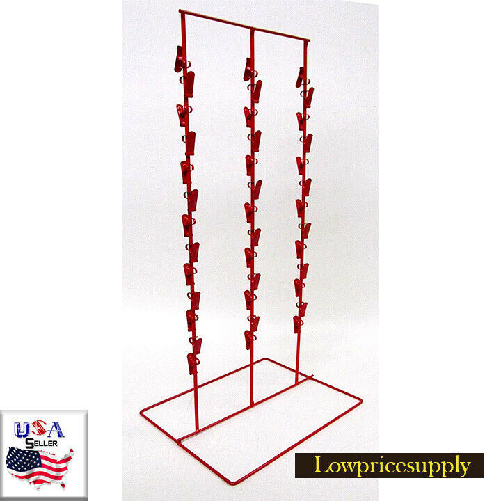 Candy Clip Counter Display Rack 1 New Black Double Round Strip Potato Chip