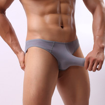 3pcs Men's sexy underwear extra-thin ice silky Physiological JJ briefs p... - $21.99