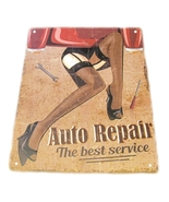 Auto repair the best service metal sign 3 thumbtall