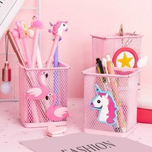 Aihao® Pen Holder Pink Metal Office Organizer  Stand Office School Supplies - $6.16