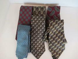 Lot of  6 men's neckties  silk various designs L Roth Strathmore Daniel ... - $12.69