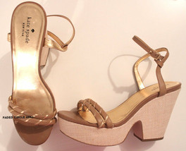 KATE SPADE New York ANKLE STRAP Platform Heel SANDALS Wedge 9 M - Free S... - $119.97