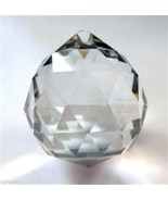 40mm Very Pale Smoky Grey Faceted Glass Sphere Prism (1) - $3.76