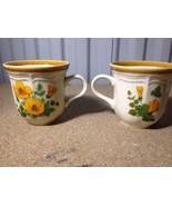 Mikasa Garden Club Cup Mug Set of 2 PETUNIAS EUC 401 (a34b) - $9.49