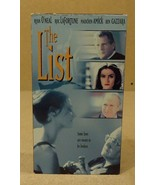 York Entertainment  The List VHS Movie  * Plastic Paper - $5.22