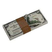 PROP MOVIE MONEY - Series 1920s Vintage $100 Full Print Prop Money Stack - $14.00
