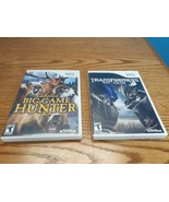 Lot of 2 Wii Games: Cabela's Big Game Hunter & Transformers: The Game  - $15.84