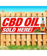 CBD OIL SOLD HERE Advertising Vinyl Banner Flag Sign Many Sizes ALL NATURAL - $14.24+