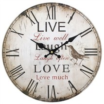 MDF Live, Laugh & Love Rustic Effect Wall Clock; 20 - $18.70