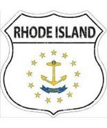 Rhode Island State Flag Highway Shield Novelty Metal Magnet - $12.95