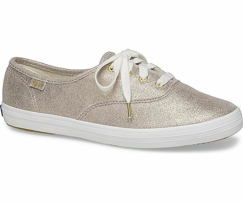 Keds WH59114 Women's Shoes Champion Glitter Suede Champagne, 6.5 Med