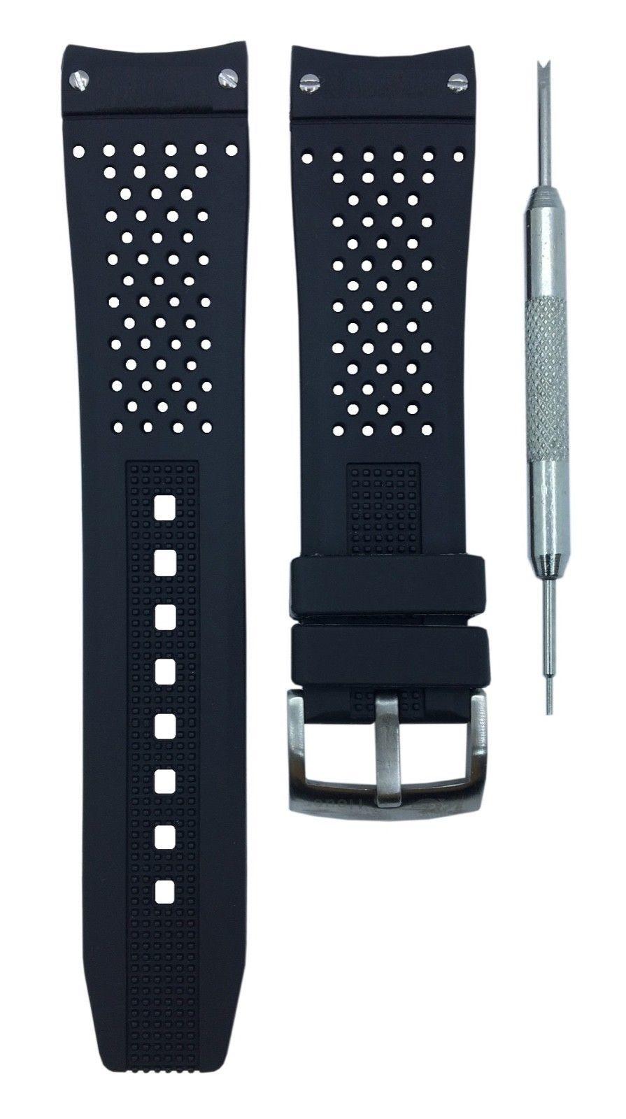 9f9d6507e41 57. 57. Previous. Bracelet FOR TAG Heuer rubber Grand Carrera band BLACK  noir 22mm w  ...