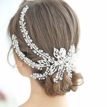 Luxury Crystal Beads Tiara Alloy Headband Fashion Crown New Design Weddi... - £35.05 GBP