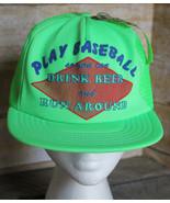 Vintage 80s Play Baseball Drink Beer & Run Around Trucker Hat Snap Back ... - $19.34