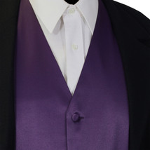 Deep Purple New Men Solid Classic Formal Tuxedo Suit Vest Waistcoat Wedd... - $16.81+