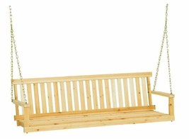 Jack Post Jennings Traditional 5-Foot Swing Seat With Chains In Unfinish... - $110.99