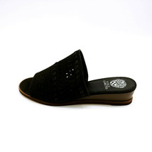 Vince Camuto Womans Rallema Leather Slide Sandals Open Toe Cushion Black... - $34.64