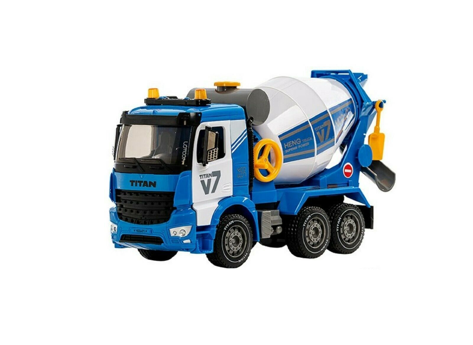 Yoowon Toys Concrete Cement Mixer Truck Car Vehicle Sound Effect Lights Play Toy