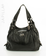 Coach Madison Maggie Mia Black Leather Shoulder bag satchel purse 14336 - $127.71