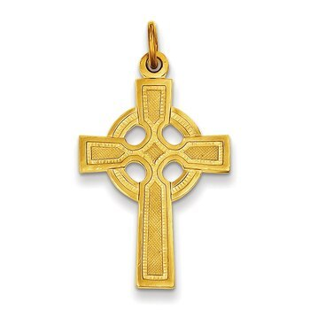 Primary image for Lex & Lu Sterling Silver & 24k Gold -plated Celtic Cross Pendant