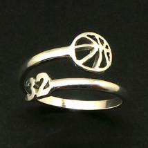 925 Silver Custom Basketball Mom Number Ring  image 2