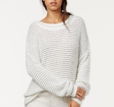 Rachel Roy Sweater Sz L White Light Grey Metallic Wool Fresh Slouchy Pul... - £36.64 GBP