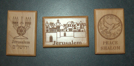 Israel Olive Wood Small Magnet Judaica Messianic Menorah Jerusalem Peace Dove image 9