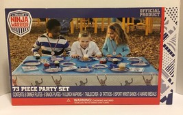 American Ninja Warrior 73 Piece Party Set: Plates, Napkins, Table Cover ... - $29.69