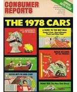 ORIGINAL Vintage 1978 Consumer Reports Magazine Autos Cars Issue - $14.84