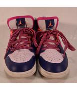 Nike Air Jordan1 Mid Fire Pink Regency Purple PS Pre School 13.5C 640737... - $58.41