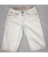 Tommy Hilfiger Womens Shorts White Denim Cotton Stretch Flap Pockets Size 6 - $25.22