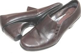 Dansko Shoes Side Gore Pump Brown Leather Heels Slip On Clogs Sz 40 9 / 9.5 - $39.60