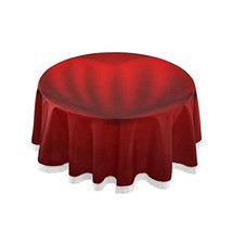 "SUABO 60"" Inch Round Valentines Tablecloths, Love Circular Table Cover W... - $37.19"