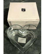 "GORHAM Amore Candy Dish Crystal Heart Shaped 5"" Diameter with Box - $4.94"