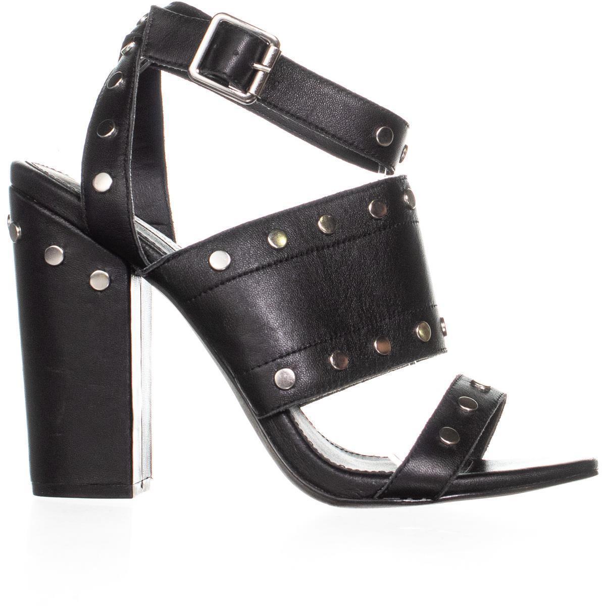 Steve Madden Jansen Ankle-Strap Dress Sandals 535, Black, 10 US