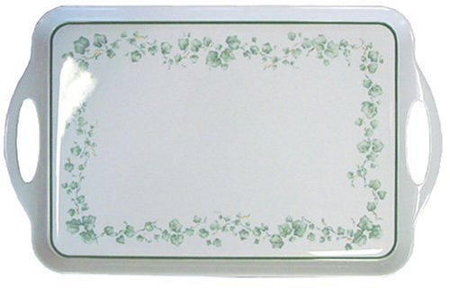 Corelle Coordinates by Reston Lloyd Melamine Rectangular Serving Tray with Handl