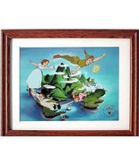 Disney's Peter Pan Exclusive Commerative Lithograph Framed and Matted MA... - $18.99