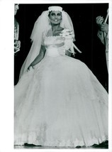 Vintage photo of Loredana Bertè in wedding dress  - $16.61