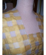 4yds CHARMING OFF WHT SILK VOILE PLAID BUTTERCUP & TAN BROADCLOTH & RAW ... - $60.00