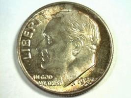 1957 ROOSEVELT DIME GEM UNCIRCULATED GEM UNC. SUPER IRRADIATE COLORED COIN - $75.00