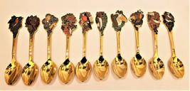 Hallmark Collectible American Bird Gold/Silver 10 Spoon Set 1979 - $193.47