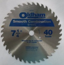 "Oldham B725-CT 7-1/4"" x 40 Tooth Smooth Combination Steel Saw Blade - $2.23"