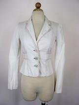 Blazer Luella x Target White Cotton Colored Stitching & Buttons Jacket X... - $25.74