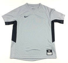 New Nike Dri-fit Short Sleeve Jersey Baseball Training Boy's Medium Gray... - $9.64