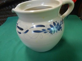 Great Handpainted CROCK Stoneware Pottery PITCHER - $17.41